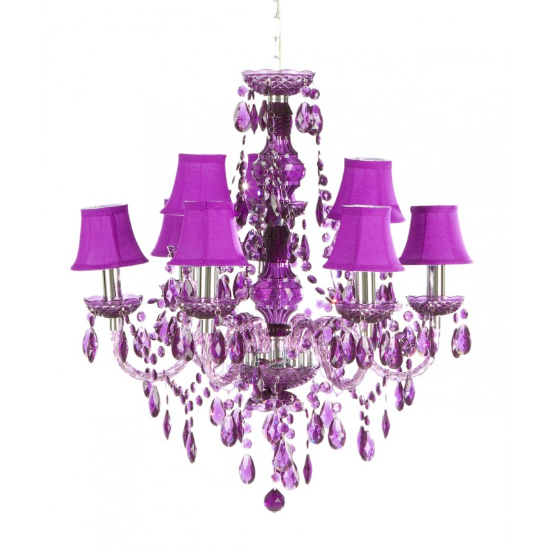 Romeo 9t purple romeo 9 arms purple chandelier mozeypictures Images